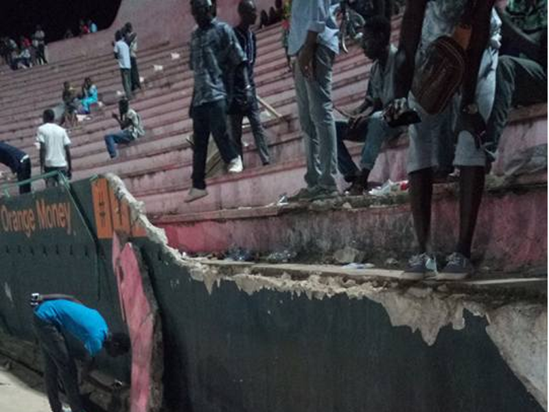 Eight people killed after wall collapses at Senegal football stadium