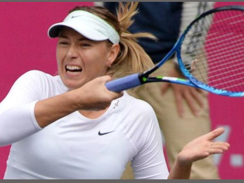 Maria Sharapova through to first final since returning from drugs ban after beating Peng Shuai in Tianjin Open