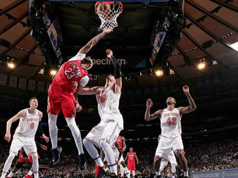 Anthony Davis helps Pelicans defeat Knicks with 48-point, 17-rebound performance