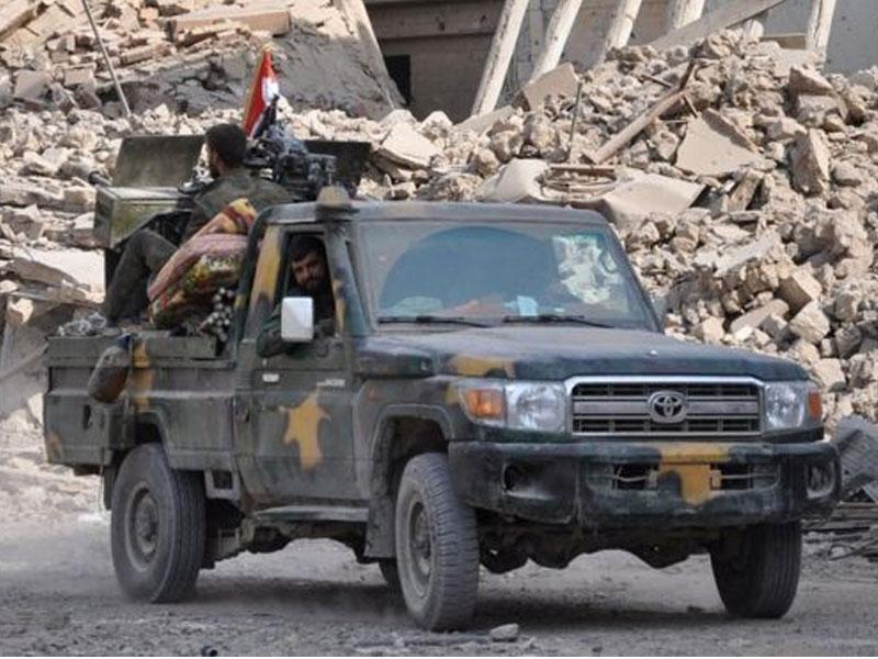 Led Coalition Forces Strike 'Syrian Pro-Regime' Forces