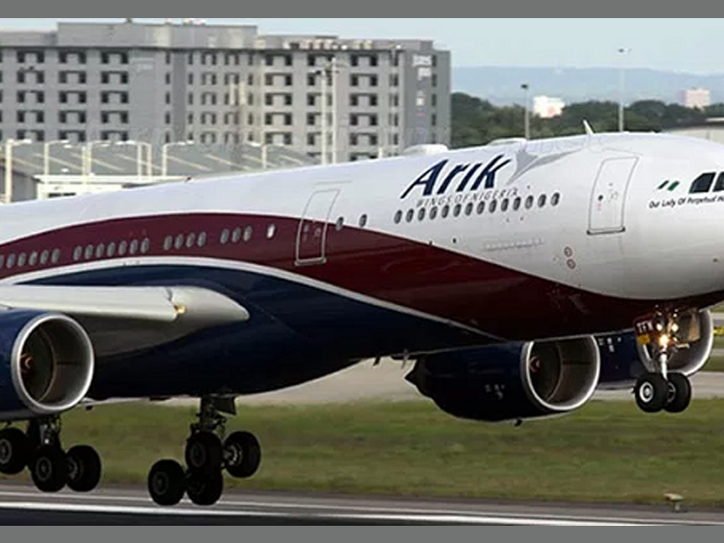 Arik air plane from Lagos reportedly makes emergency landing in Ghana