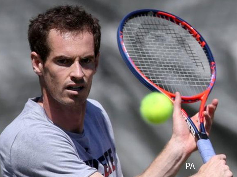 Wayne Rooney plays football tennis with Andy Murray