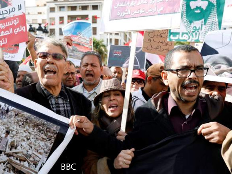 Tunisians protest against MBS visit for second day