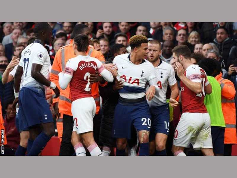Arsenal triumph over Tottenham amid 'unacceptable' trouble in stands