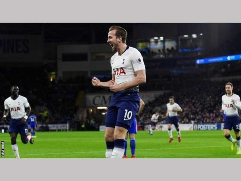 Dominant Spurs ease past Cardiff City
