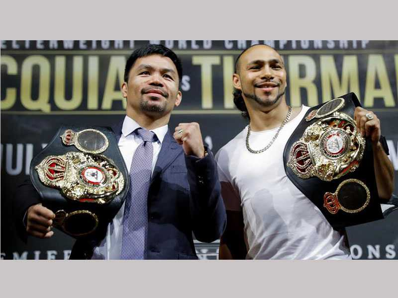 Pacquiao vs. Thurman Fight 'Will Not Go 12 Rounds,' Pacman Says