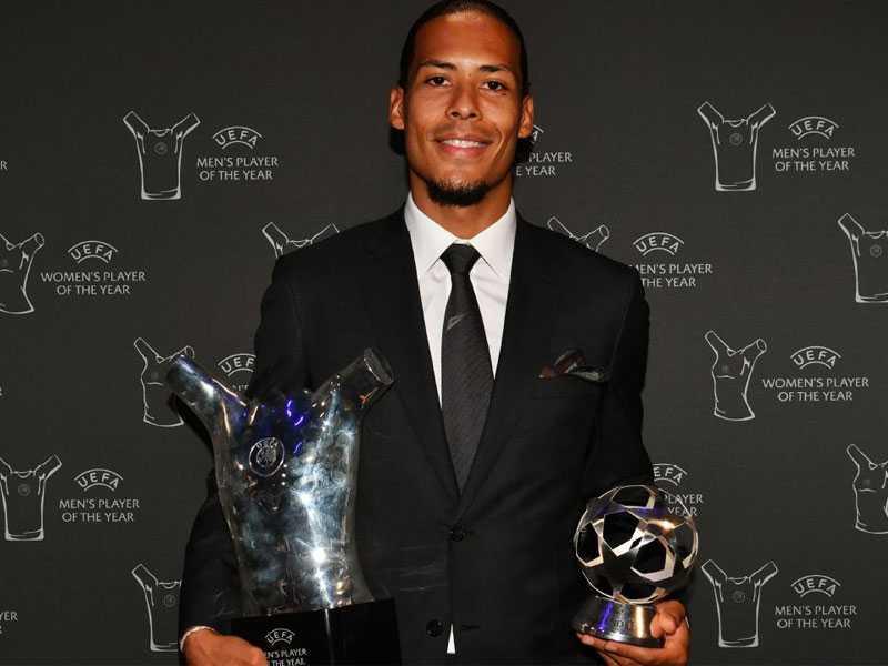 Liverpool's Virgil van Dijk wins UEFA Men's Player of the Year award