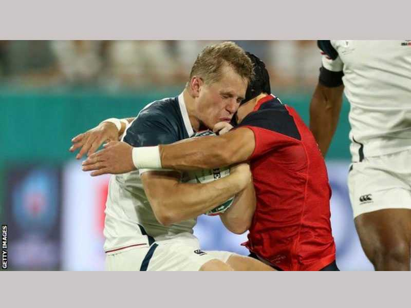 England centre cited over high tackle against USA