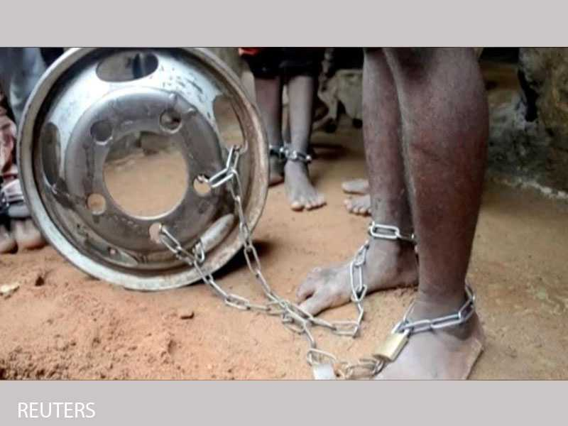 More than 300 people, mostly children, found in chains in Nigeria's Kaduna