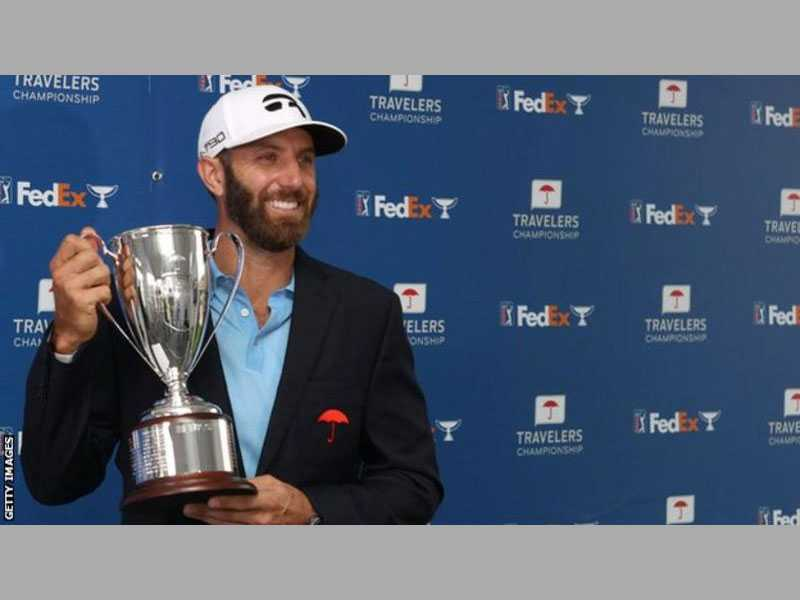 Dustin Johnson Wins Travelers Championship